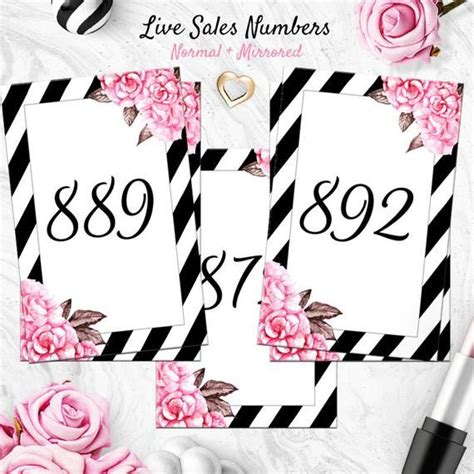 pink facebook  sale numbers normal mirrored mirrored