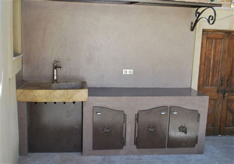 meuble cuisine d ete cuisine d 233 t 233 en b 233 ton cir 233 b 233 ton luxe