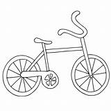 Coloring Bike Easy Bicycle Printable Preschoolers Getcoloringpages sketch template