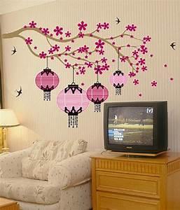 SYGA Pink Black Wall Sticker: Buy SYGA Pink Black Wall