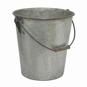 Three, Hands, Galvanized, Metal, Bucket-39491
