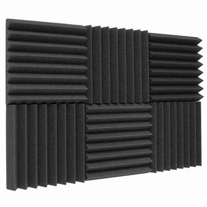Acoustic Panels Foam Studio Wedges Pack Charcoal