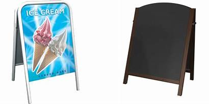 Signs Pavement Boards Board Advertising Display Frame