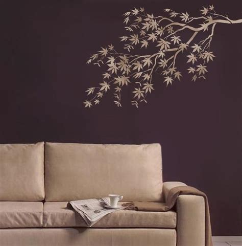 stencil japanese maple branch reusable stencils  easy