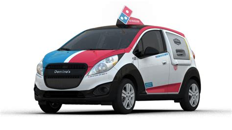 Dominos Pizza Cars by Domino S Unveils Custom Pizza Delivery Car Fox Sports