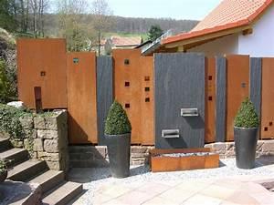 Sichtschutz Modern Design : sichtschutz cortenstahl und schiefer 800 600 pixel garten ideen pinterest ~ A.2002-acura-tl-radio.info Haus und Dekorationen