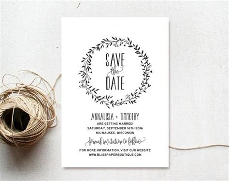 Save The Date Template Save The Date Template Save The Date Printable Rustic
