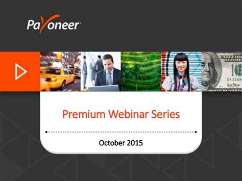 Payoneer Premium Webinar Want To Be A Legendary Freelancer?