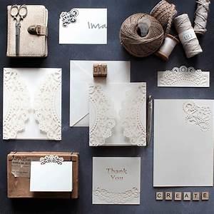 doily cream wrap imagine diy With homemade laser cut wedding invitations