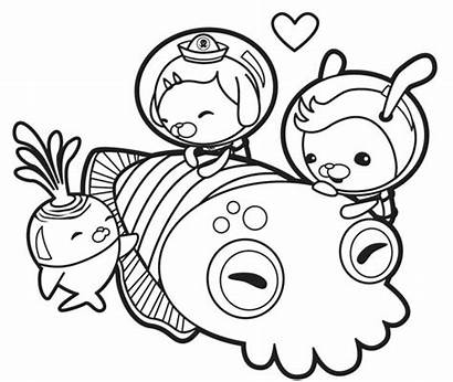 Octonauts Coloring Squid Pages Giant Printable Meet