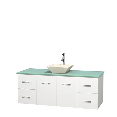 60 Inch Bathroom Vanity Single Sink White by Wyndham Collection Wcvw00960swhggd2bmxx Centra 60 Inch