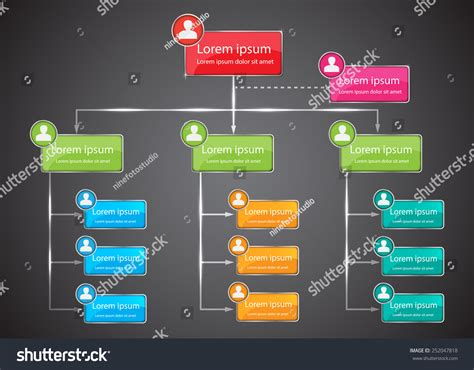 colorful organizational chart infographic human picture