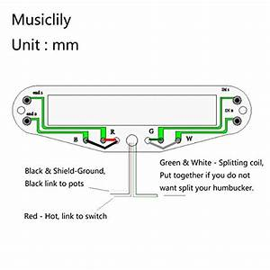 Musiclily Dual Hot Rail Guitar Single Coil Humbucker Pickups For Fender Stratocaster Squier