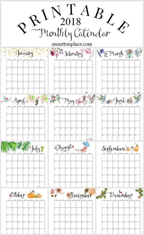 write in calendar 2018 free monthly calendar 2018 printable you can write in