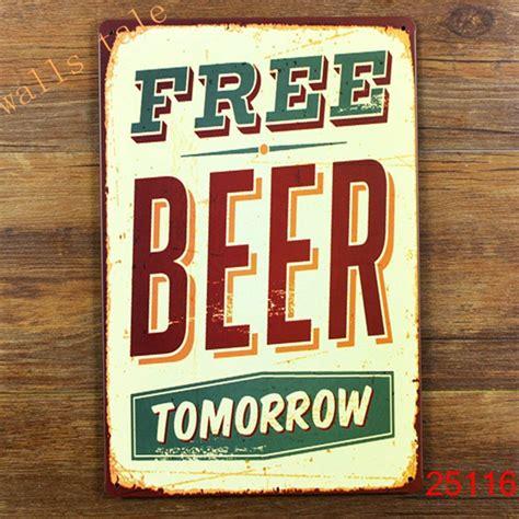 aliexpress com buy funny metal tin sign for bar pub wall decor metal wall art bar sign beer