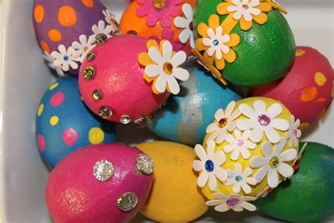easter egg decoration pictures easter egg decorating idea 3 painted bling eggs north texas kids
