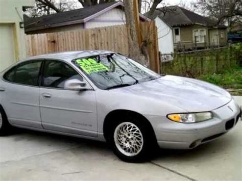 car owners manuals for sale 1999 pontiac grand prix electronic toll collection cheap 1999 pontiac grand prix es for sale in houston tx under 4000 youtube