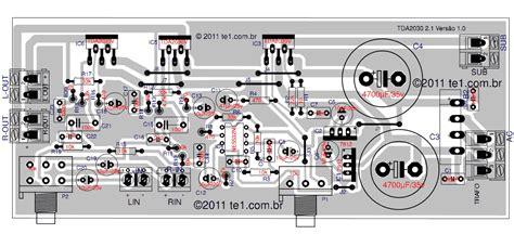 circuito de amplificador de audio  tda