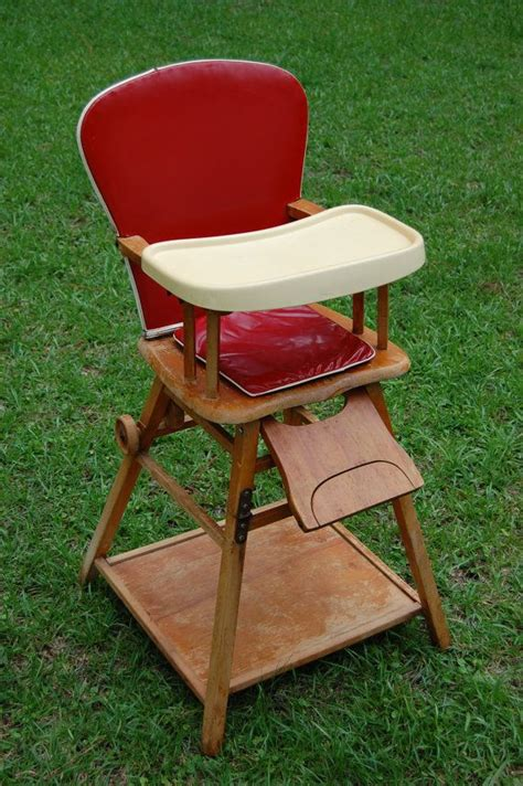 vintage 1950s highchair convertible converts to play