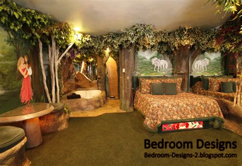 chambre theme jungle modern bedroom design takes the forest style