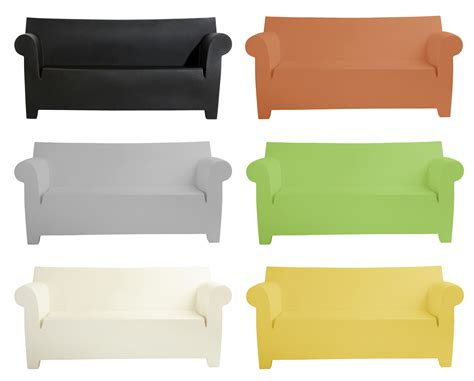 sofa clear grey by kartell