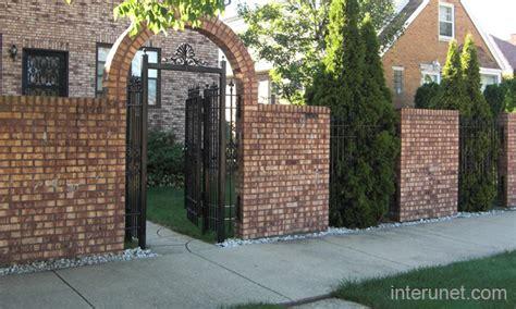 brick fence designs brick fence iron picture interunet