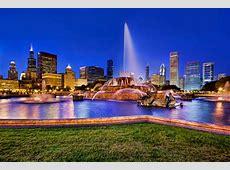 Buckingham Fountain Panorama, Chicago Traveldiggcom