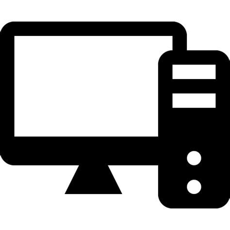 desktop computer icon black and white desktop computer icon transparent png stickpng
