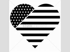 American flag in heart shape Vector Image 1525058