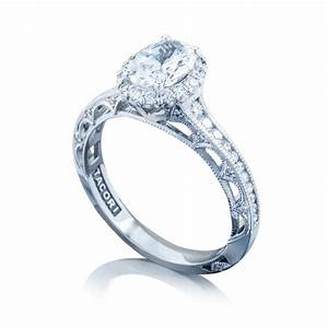 tacori engagement rings reverse crescent oval setting With halo engagement rings with wedding bands