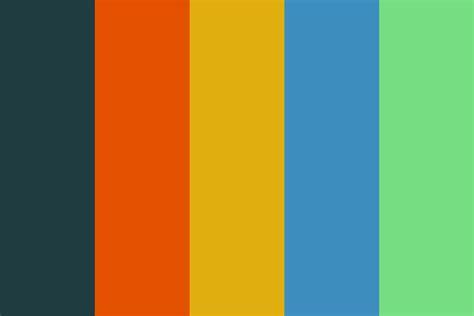60s colors 60s palette 5 color palette