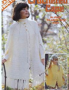 Vintage Crochet Pattern Cape Girls And Womens Sizes