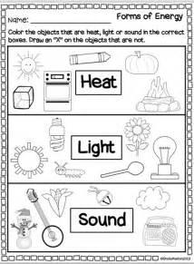 Light Sound Heat Energy Worksheets