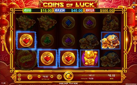 play coins  luck video slot  cyberspins