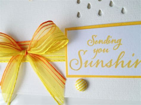 yellow ribbon sending  sunshine handmade card