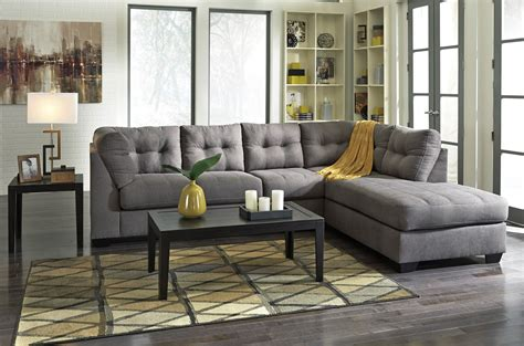 Loveseat Sectionals by Maier Charcoal Raf Sectional From 45200 17 66