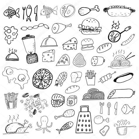 cuisine stock food doodles stock vector orfeev 33775941