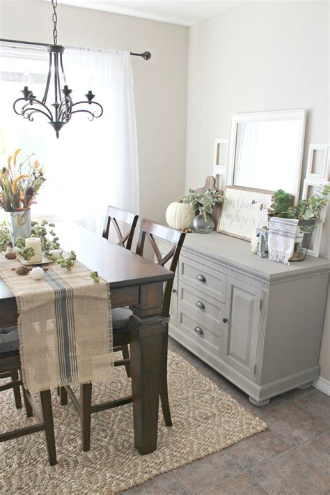Decorating Ideas Kitchen Buffet by Fall Decor Buffet Table Painted In Sloan