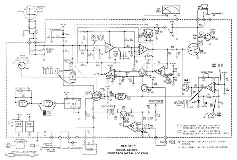 Heathkit Cointrack Metal Detector Schematic Diagram