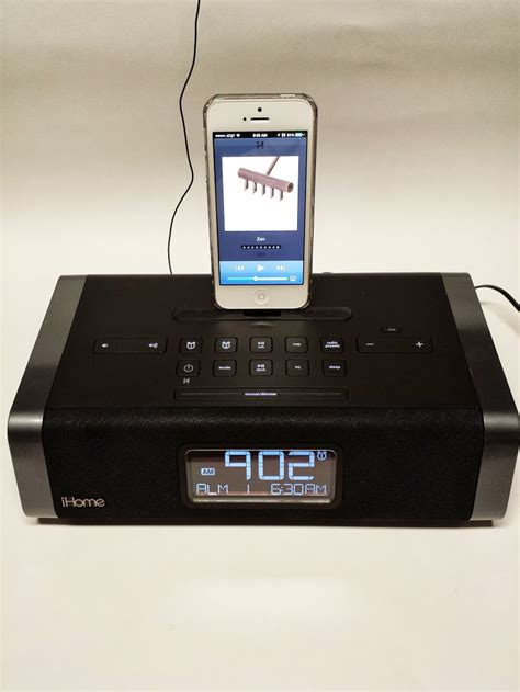 ihome for iphone 5 ihome idl45 clock radio with lightning dock for and