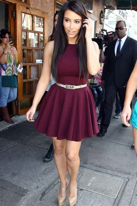 Burgundy Dress Outfit - Oasis amor Fashion
