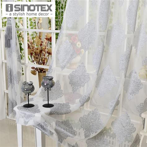 sheer voile curtain fabric window curtain grey luxury tulle voile fabric for curtains