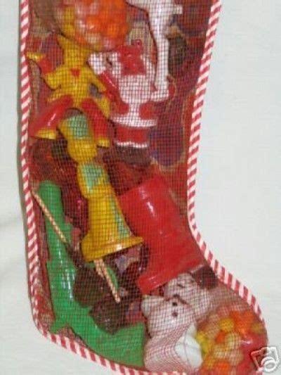mesh stocking filled  rosen toys candy