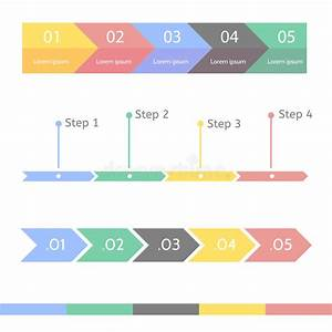 Progress Chart Statistic Concept  Infographic Template For