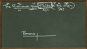 Diagraming Indirect Objects
