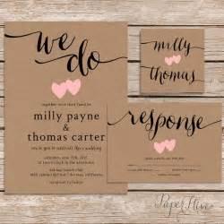 photo wedding invitations rustic wedding invitation printable wedding invitation kraft wedding invitation set