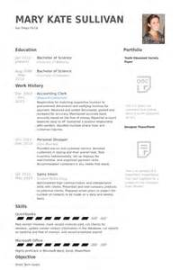 Accounting Clerk Resume Samples Visualcv Resume Samples