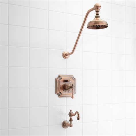 Shower Fixtures - vintage pressure balance tub and shower faucet set with