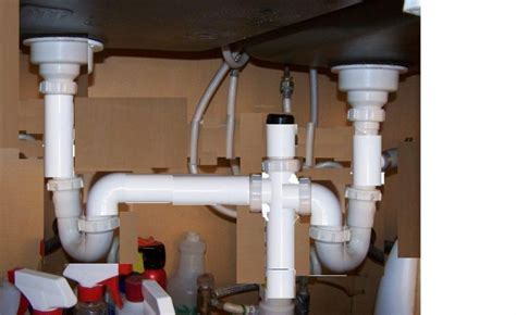 Install of Vent under two bowl sink