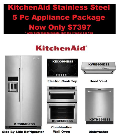 Kitchenaid Appliance Warehouse by Kitchenaid Complete Kitchen Appliance Package Deal 7397